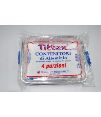 Tittex Vaschette in Alluminio 4 porzioni