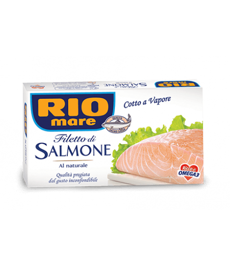 Rio Mare Filetto di Salmone Cotto a Vapore 150gr