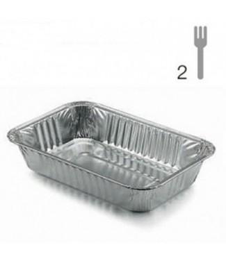 Tittex Vaschetta Alluminio 2 porzioni