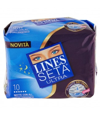 Lines Seta Ultra Notte con Ali 10 Pz